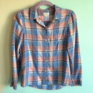 Madewell Plaid Boy Shirt